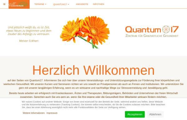 Vorschau von quantum17.de, Quantum17 - Zentrum für Ganzheitliche Gesundheit