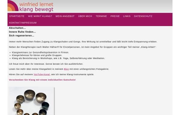Vorschau von www.winfried-lernet.de, Winfried Lernet, Klang bewegt