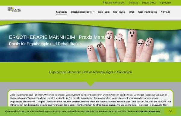 Vorschau von www.ergo-jaeger.de, Ergotherapie - Manuela Jäger