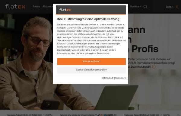 Vorschau von www.flatex.de, Flatex AG