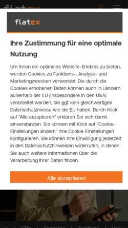 Vorschau der mobilen Webseite www.flatex.de, Flatex AG
