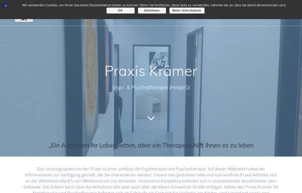 Vorschau von www.praxis-kraemer.com, Björn Krämer - Praxis für Ergotherapie und Psychotherapie