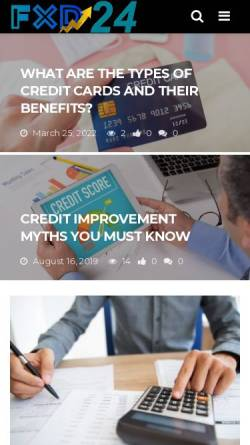 Vorschau der mobilen Webseite www.fxd24.com, FX direct S.A.