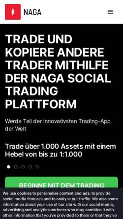 Vorschau der mobilen Webseite www.nagabrokers.com, Hanseatic Brokerhouse Securities AG