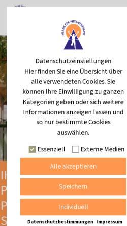 Vorschau der mobilen Webseite www.physio-langner.de, Praxis für Physiotherapie Torsten Langner