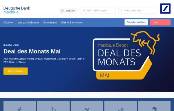 Vorschau von www.maxblue.de, Maxblue - Deutsche Bank Privat- und Geschäftskunden AG
