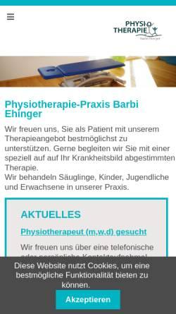 Vorschau der mobilen Webseite www.physio-bermatingen.de, Barbi Ehinger