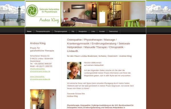 Vorschau von www.osteopathie-physiotherapie-lindau.de, Praxis für ganzheitliche Therapie Andrea Kling
