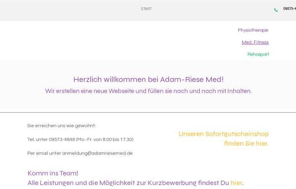 Vorschau von www.adamriesemed.de, Physiotherapie Adam-Riese-med