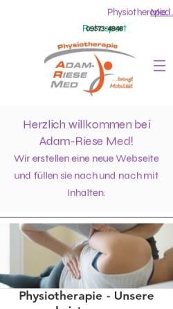 Vorschau der mobilen Webseite www.adamriesemed.de, Physiotherapie Adam-Riese-med
