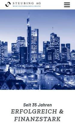 Vorschau der mobilen Webseite www.steubing.de, Steubing AG