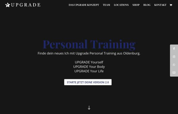 Vorschau von www.upgrade-personal-training.de, Upgrade