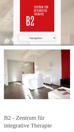 Vorschau der mobilen Webseite b2-zentrum.de, B2 Zentrum für integrative Therapie