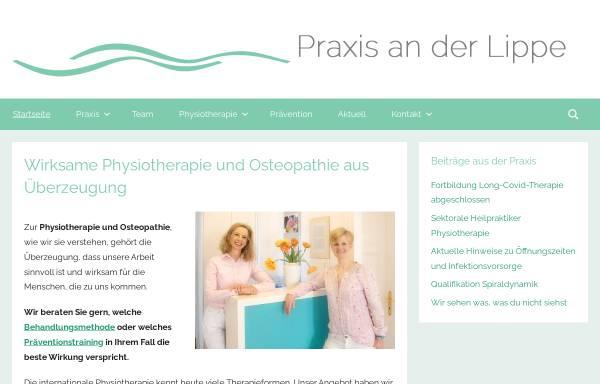Vorschau von praxisanderlippe.de, Praxis an der Lippe GbR
