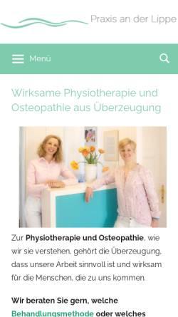 Vorschau der mobilen Webseite praxisanderlippe.de, Praxis an der Lippe GbR