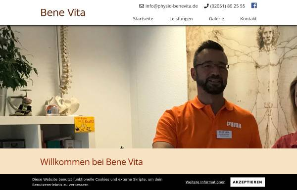 Vorschau von www.physio-benevita.de, Benevita Praxis für Physiotherapie