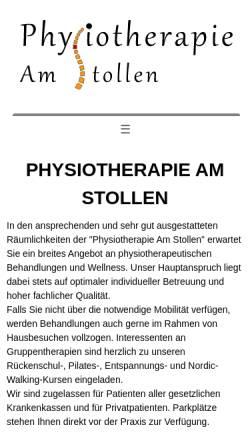 Vorschau der mobilen Webseite www.physiotherapie-amstollen.de, Physiotherapie Am Stollen, Miriam Hilbrunner