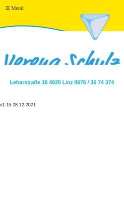 Vorschau der mobilen Webseite www.physio-schulz.at, Verena Schulz