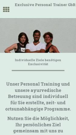 Vorschau der mobilen Webseite www.exclusive-personal-trainer.de, Exclusive Personal Trainer GbR