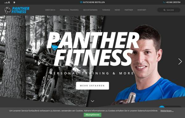 Vorschau von www.panther-fitness.at, Panther Fitness Personal Training & more