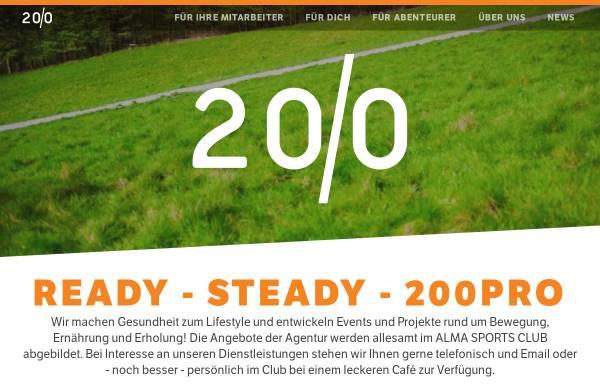 Vorschau von 200pro.com, 200Pro GmbH Dr. Holger Schütt