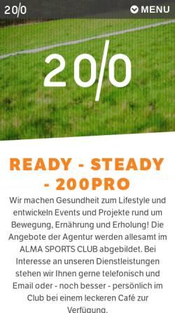Vorschau der mobilen Webseite 200pro.com, 200Pro GmbH Dr. Holger Schütt