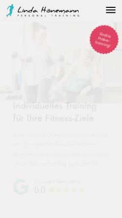 Vorschau der mobilen Webseite www.linda-hoenemann.de, Linda Hönemann Personal Training