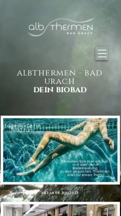 Vorschau der mobilen Webseite albthermen.de, Albthermen