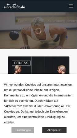 Vorschau der mobilen Webseite www.einfach-fit.de, Einfach-fit.de