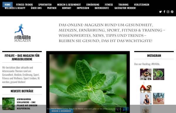 Vorschau von www.fit4life-magazin.de, Fit4Life Magazin