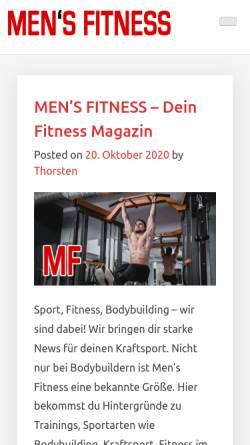 Vorschau der mobilen Webseite www.mensfitness.de, Mens Fitness