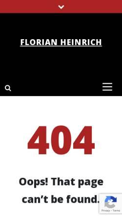 Vorschau der mobilen Webseite www.florianheinrich.com, Entfessel Dein Potenzial