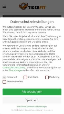 Vorschau der mobilen Webseite tigerfit.de, Tigerfit.de