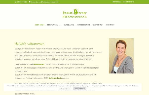 Vorschau von www.hebamme-menden.de, Hebammenpraxis Denise Berner