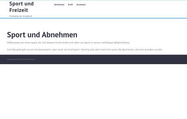 Vorschau von www.ohne-speck.de, Ohne Speck