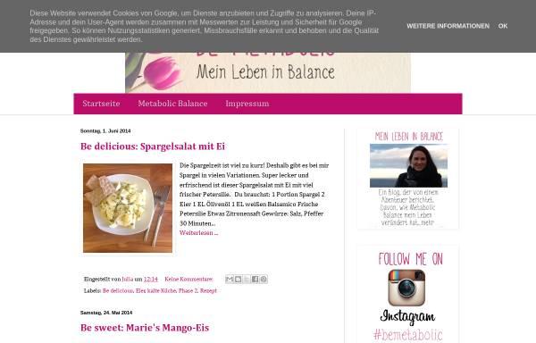 Vorschau von bemetabolic.blogspot.de, Be Metabolic