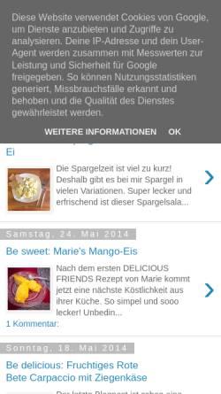 Vorschau der mobilen Webseite bemetabolic.blogspot.de, Be Metabolic