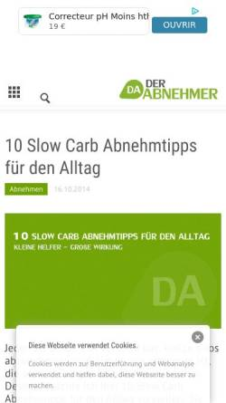 Vorschau der mobilen Webseite www.derabnehmer.de, DerAbnehmer