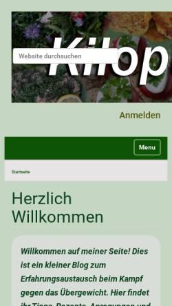 Vorschau der mobilen Webseite kilopurzel.de, Kilopurzel lässt die Kilos purzeln
