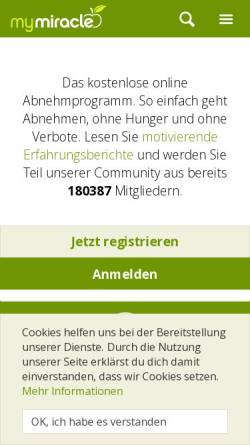 Vorschau der mobilen Webseite www.my-miracle.de, My Miracle