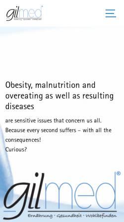 Vorschau der mobilen Webseite www.gilmed.de, Gilmed