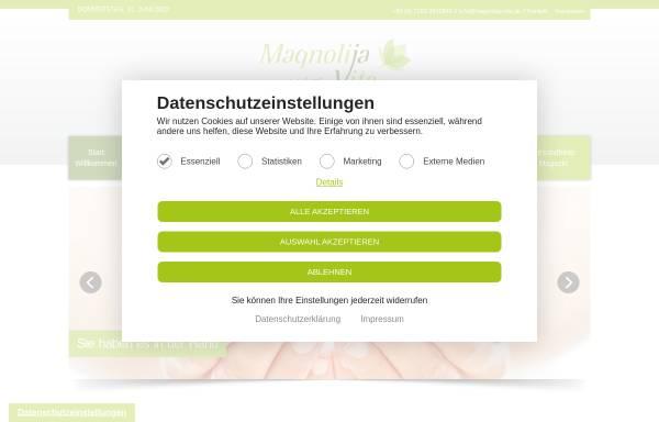 Vorschau von magnolija-vita.de, Magnolija Vita e.K