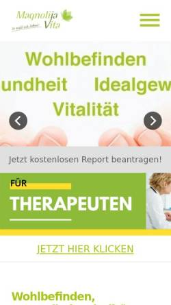 Vorschau der mobilen Webseite magnolija-vita.de, Magnolija Vita e.K