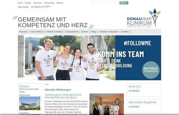 Vorschau von www.donau-isar-klinikum.de, Donauisar Klinikum Deggendorf-Dingolfing-Landau gKU