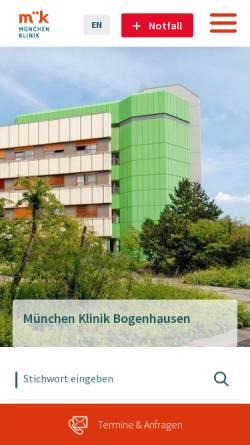 Vorschau der mobilen Webseite www.klinikum-muenchen.de, Klinikum Bogenhausen