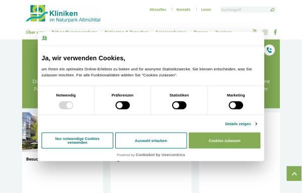 Vorschau von www.klinik-eichstaett.de, Klinik Eichstätt
