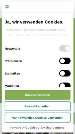 Vorschau der mobilen Webseite www.klinik-eichstaett.de, Klinik Eichstätt