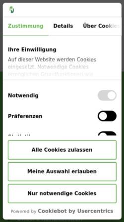 Vorschau der mobilen Webseite www.helios-kliniken.de, Helios Klinikum Warburg