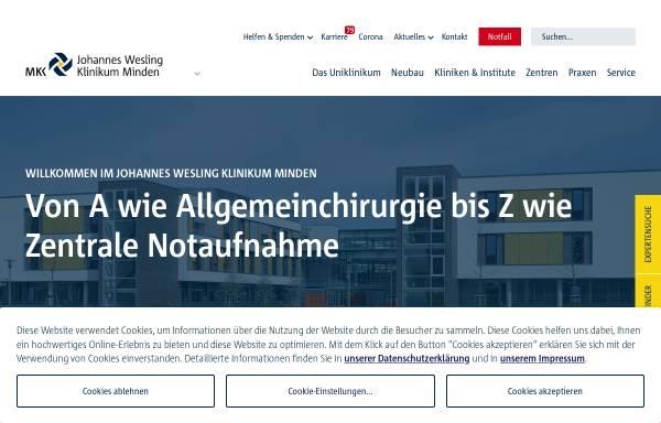 Vorschau von muehlenkreiskliniken.de, Johannes-Wesling Klinikum Minden