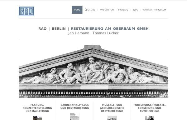 Vorschau von www.rao-berlin.de, Restaurierung am Oberbaum GmbH